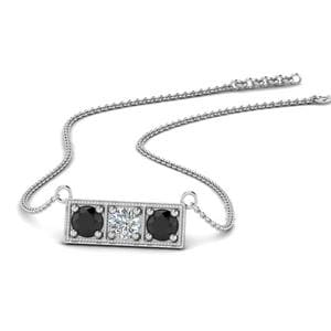 Platinum Black Diamond Pendant