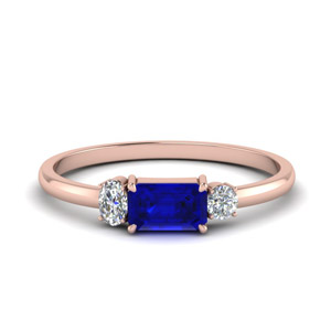 3 Stone Alternate Wedding Ring