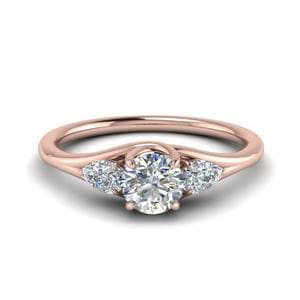 3 Stone Trellis Diamond Ring