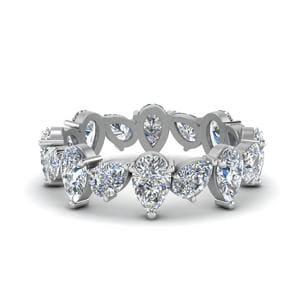 3.20 Ct. Pear Shaped Eternity Band