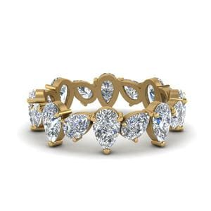 3.20 Ct. Pear Diamond Eternity Band