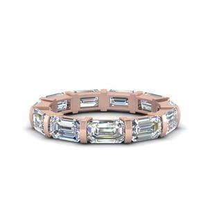 Emerald Cut Bar Eternity Band