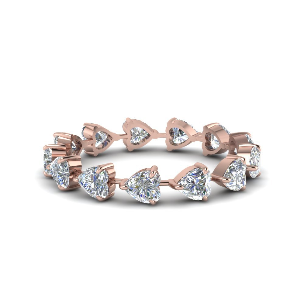4 Carat Heart Eternity Anniversary Band