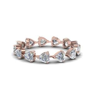 Heart 18k Rose Gold Band