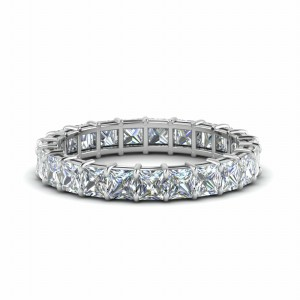 4 Ct. Diamond Mom Eternity Ring In 14K White Gold