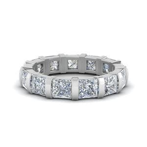 4 Ct. Diamond Bar Set Eternity Band