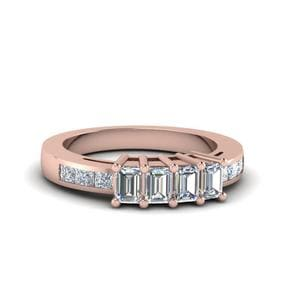Emerald Cut Diamond Accent Band