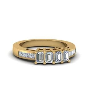 4 Emerald Cut Diamond Band