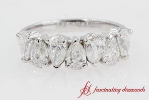 7 Stone Pear Diamond Band