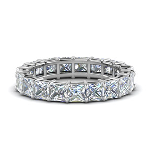 5 Ct. Princess Cut Diamond Eternity Ring