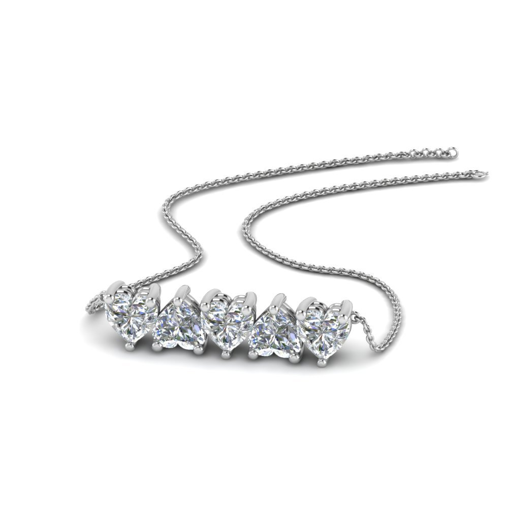 Beautiful Diamond Heart Necklace For Her