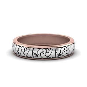 5 MM Engraved 2 Tone Womens Band