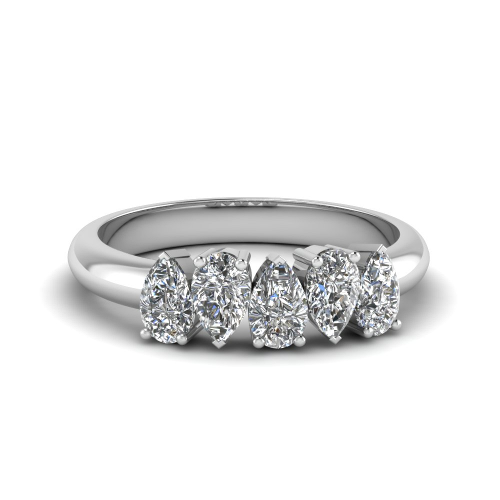 1 Ct. 5 Stone Pear Diamond Band