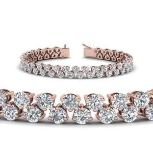 5.30 Carat Diamond Tennis Bracelet Women In 18K Rose Gold