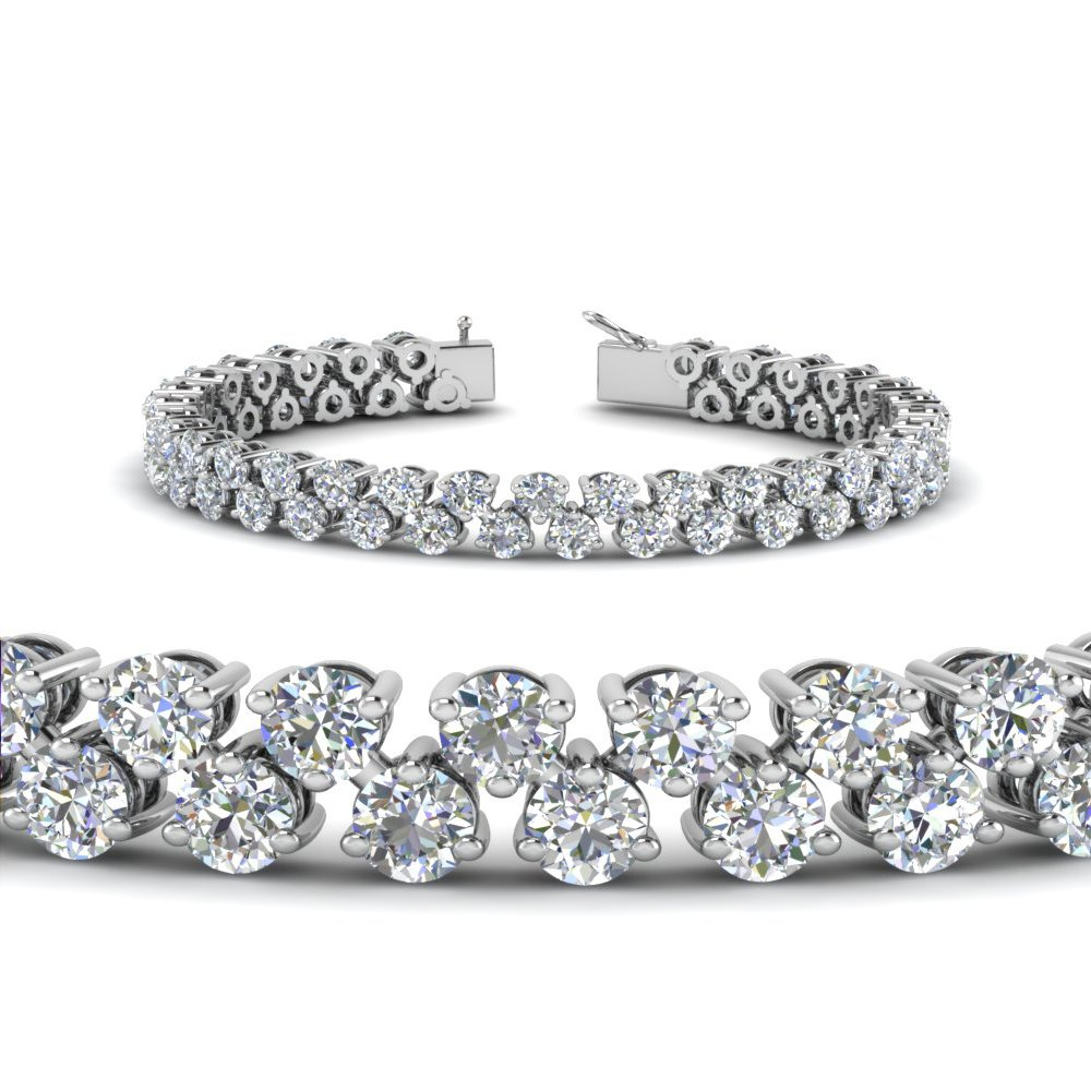 5.30 Carat Diamond Tennis Bracelet Women In 14K White Gold