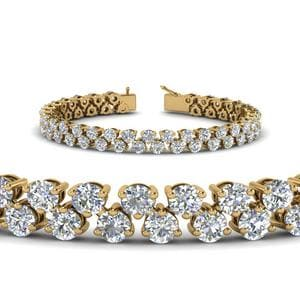 5.30 Carat Diamond Tennis Bracelet Women In 14K Yellow Gold
