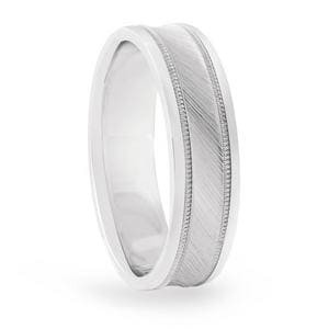5MM Convex Brushed Band