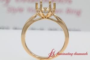 6 Prong Engagement Ring Setting