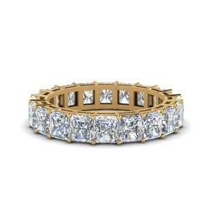 6 Carat Diamond Eternity Mother Band Gifts In 14K Yellow Gold