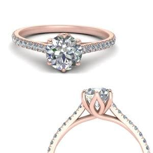 Flower Basket Diamond Ring