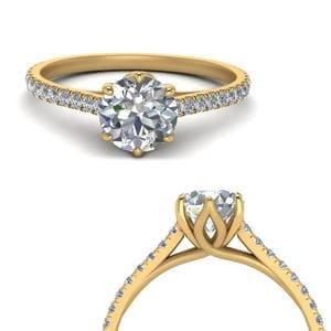 Perfect Match(U Prong Diamond Contour Wedding Band)
