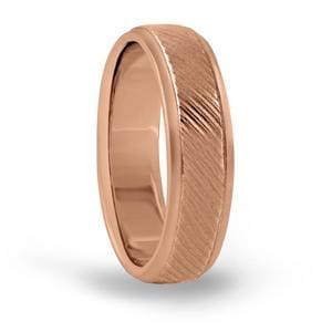 6MM Mens Engraved Wedding Band