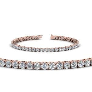 7 Carat Diamond Mom Bracelet Gifts In 14K Rose Gold