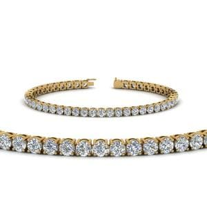 7 Carat Diamond Mom Bracelet Gifts In 14K Yellow Gold