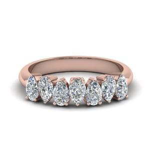 14K Rose Gold Seven Stone Band