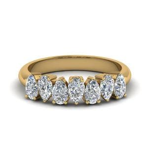 18K Yellow Gold 7 Diamond Band