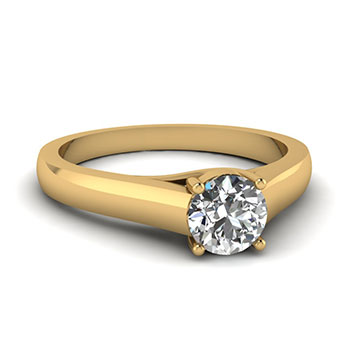 3/4 carat round cut solitaire ring