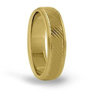 7MM Mens Engraved Wedding Band