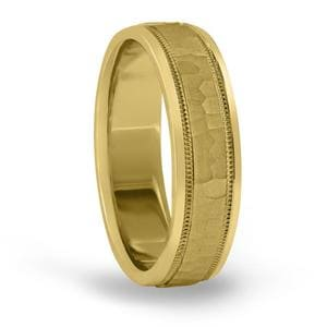 8MM Classic Hammered Mens Band