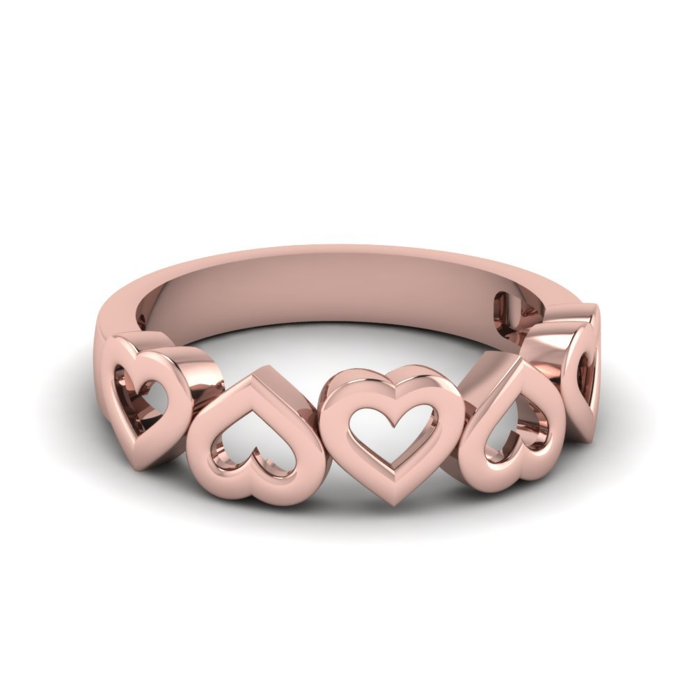 Heart Design Wedding Band