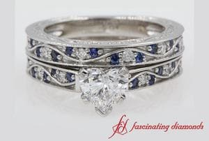Heart Diamond Wedding Set