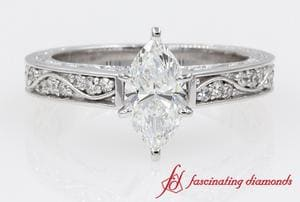 Antique Looking Marquise Solitaire Ring