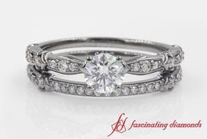 Antique Pave Wedding Set