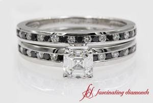 Wedding Set With Black Diamond