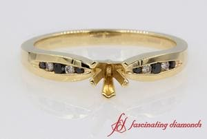 Diamond Channel Set Semi Mount Ring