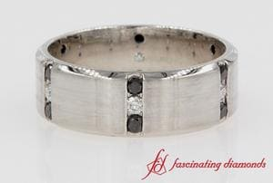 Black & White Diamond Mens Band