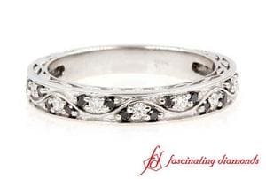 Black & White Diamond Vintage Wedding Ring