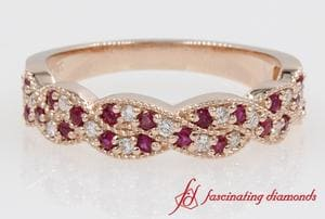 Braided Ruby Wedding Band