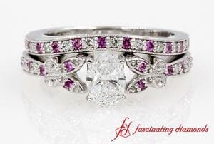 Butterfly Oval Diamond Bridal Set