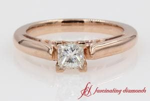 Cathedral Princess Cut Diamond Accented Ring