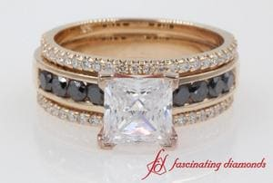 Channel Diamond Bridal Trio Set
