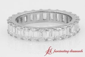 Channel Emerald Cut Diamond Eternity Band