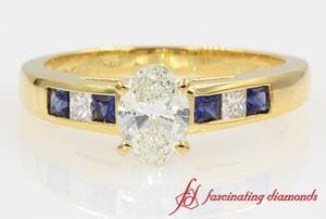 Channel Oval Diamond Ring