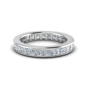 2 Ct. Channel Set Princess<br> Diamond Band