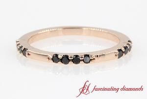 Customized Black Diamond Stackable Ring