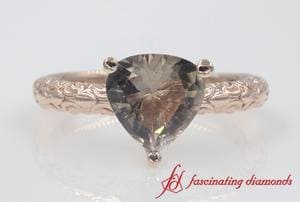 Customized Trillion Gemstone Solitaire Ring